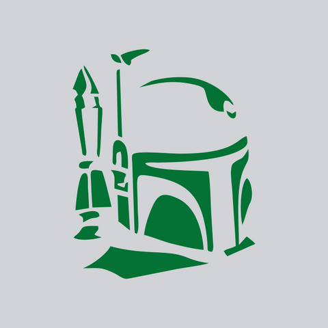 boba fett green vinyl decal