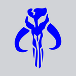 blue bounty hunter vinyl decal