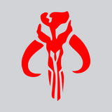 red vinyl bounty hunter decal