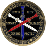 Knights of the Blue Order Brass challenge coin back