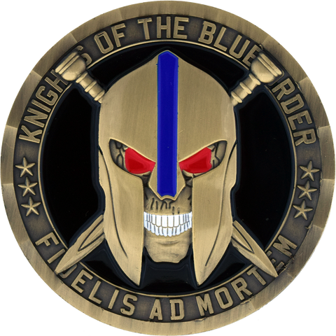 Knights of the Blue Order Brass challenge coin front