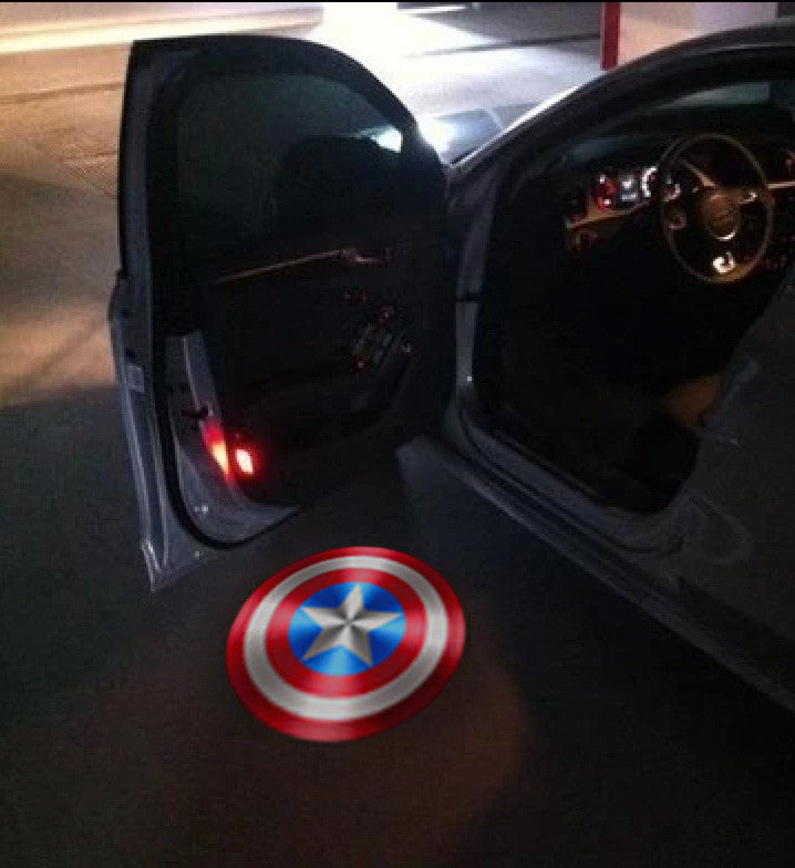 captain america car door led projecotrs