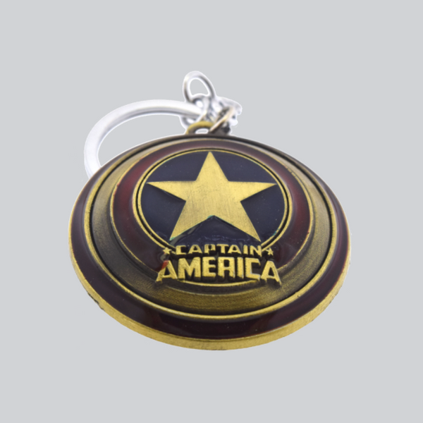 captain america key chain brass