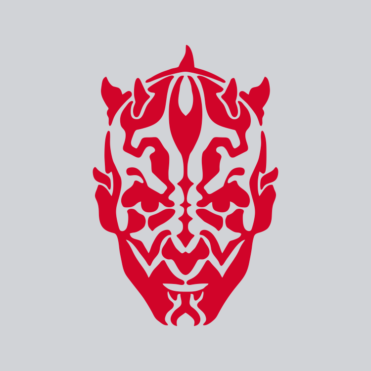 maul red vinyl decal