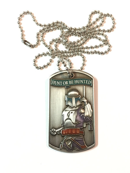 Jango Fett Bounty Hunter dog tag front