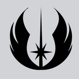 black jedi vinyl decal