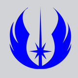 blue jedi vinyl decal