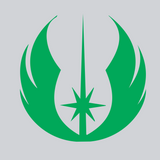 green jedi vinyl decal