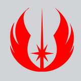 red jedi vinyl decal