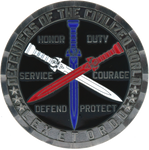 Knight of the Blue Order challenge coin Nickel back