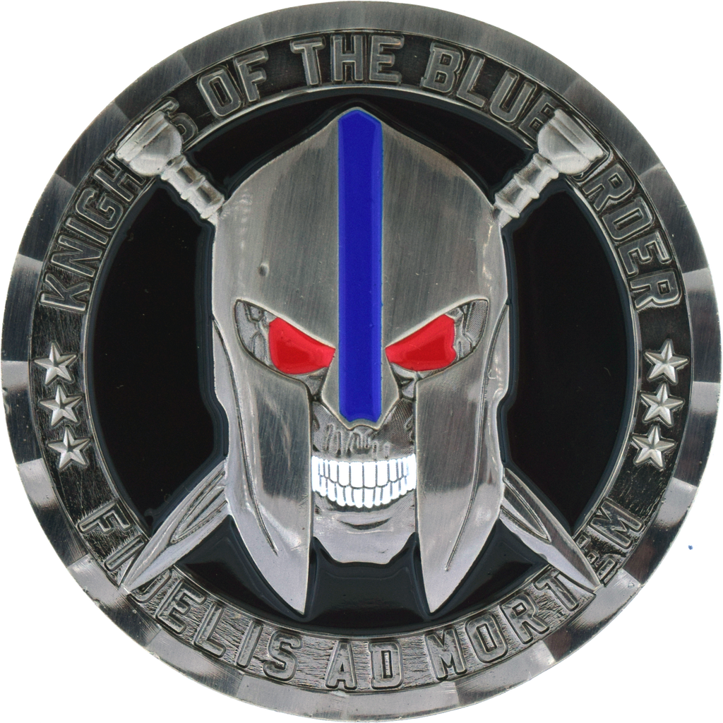 Knights Of The Blue Order Challenge Coin Blue Unicoin Llc