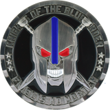 Knight of the Blue Order challenge coin Nickel front