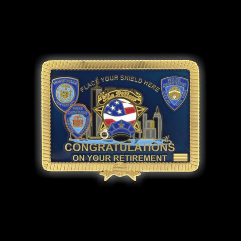 "NYPD ""THE PILLOW"" RETIREMENT CHALLENGE COIN FRONT"