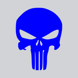 blue skull vinyl decal