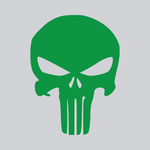 green skull vinyl decal