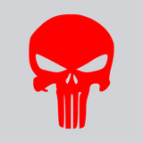 red skull vinyl decal