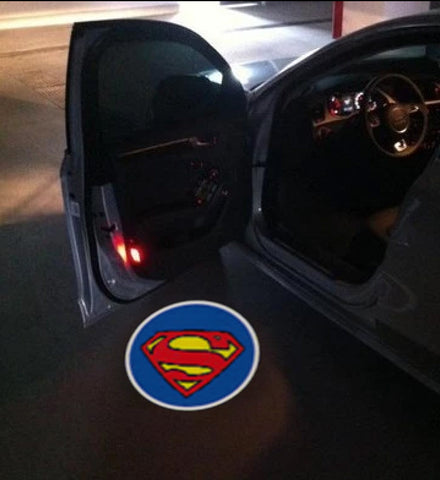 superman car door led projetor