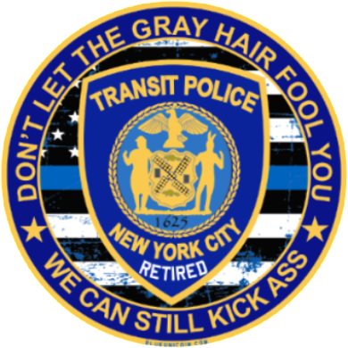 NYC Transit PD Retired Decal