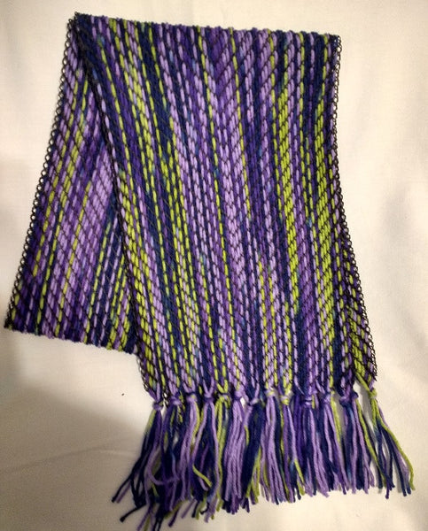Shades of Purple, Blues, and Green Handwoven Extra Long Table Runner - MKS Originals - 1
