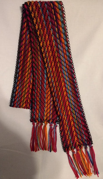 Bright Reds and Orange Handwoven Extra long Table Runner - MKS Originals - 1