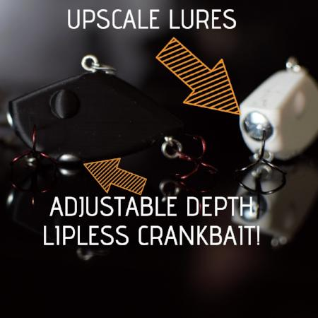 ADJUSTABLE DEPTH LIPLESS CRANKBAIT 2 INCH (STL FILE)