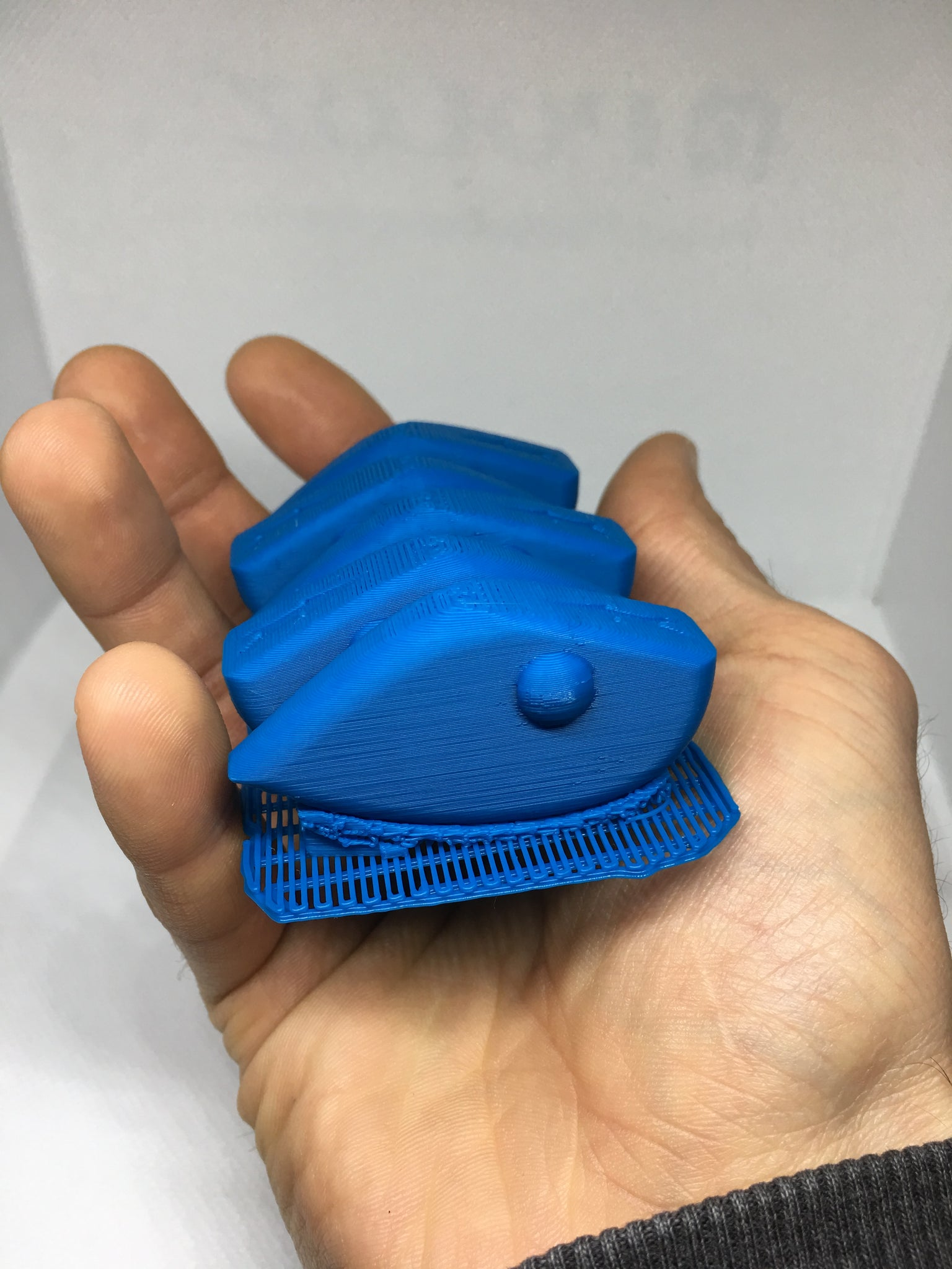 LIPLESS CRANKBAIT 2 INCH BLANK 3D PRINTED FRESH OFF THE PRINTER (BLUE)