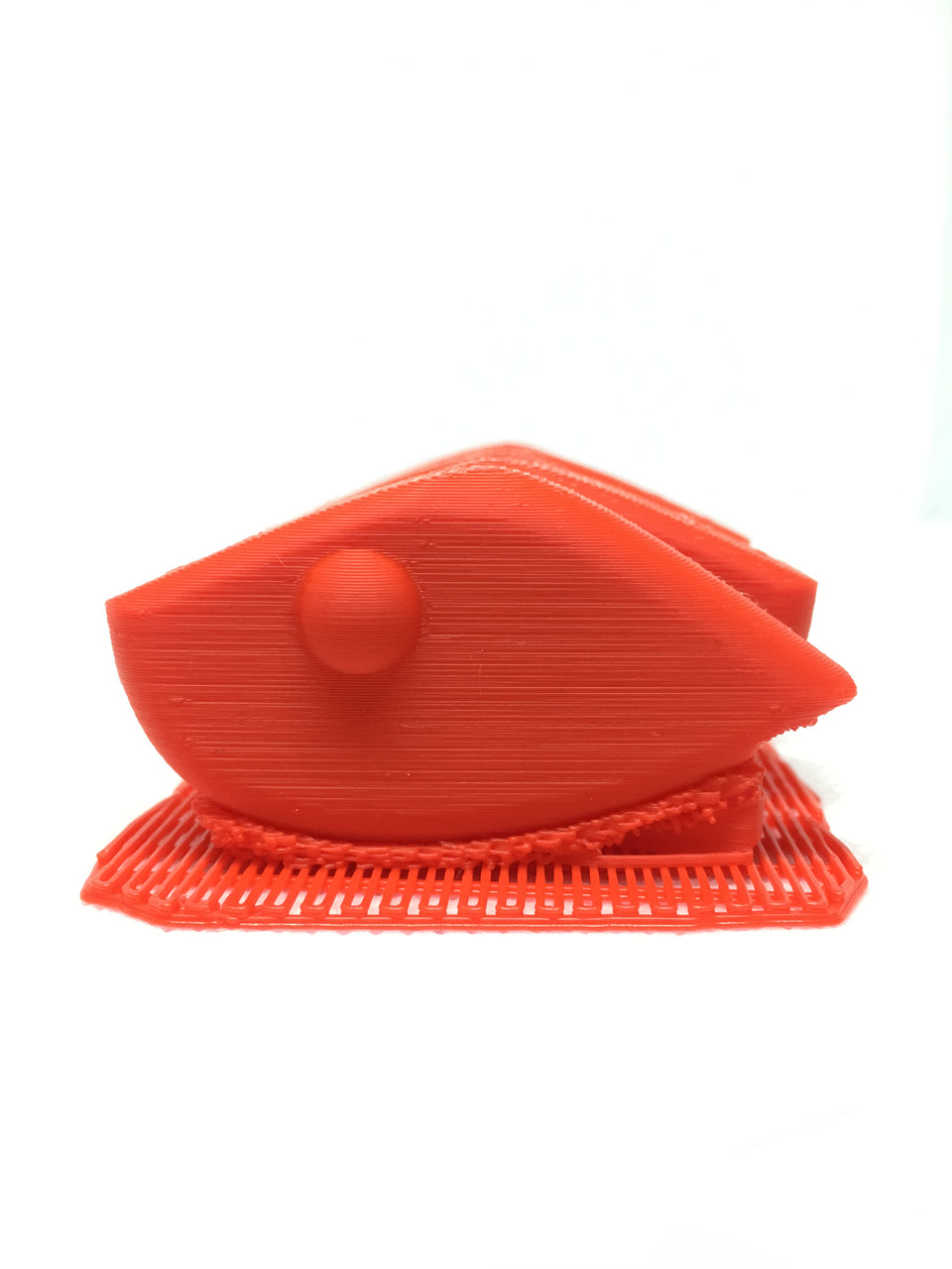 LIPLESS CRANKBAIT 2 INCH BLANK 3D PRINTED FRESH OFF THE PRINTER (RED)