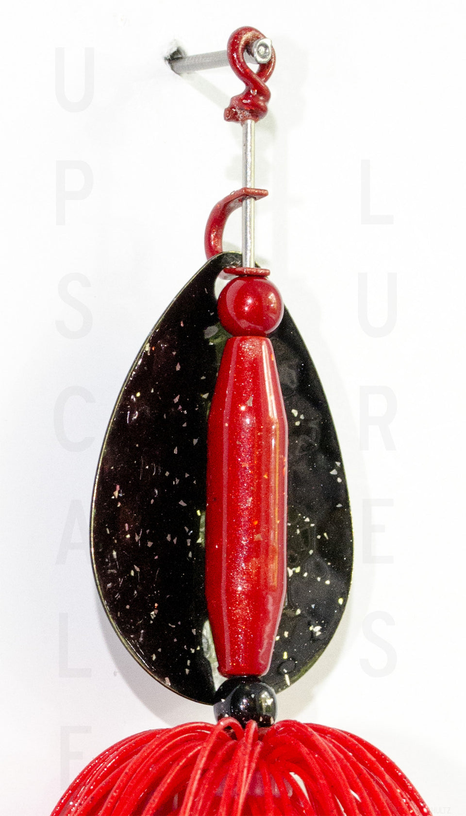 Nifty Fifty Spinner Bait Black/Red 5.5 Inches