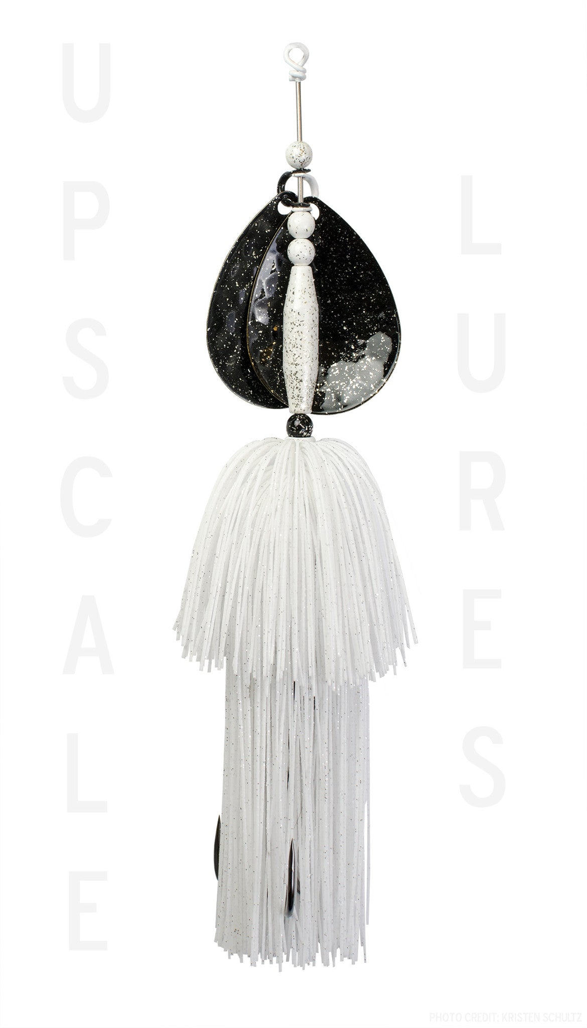 Upscale Bucktail Black/White 8.25 Inches