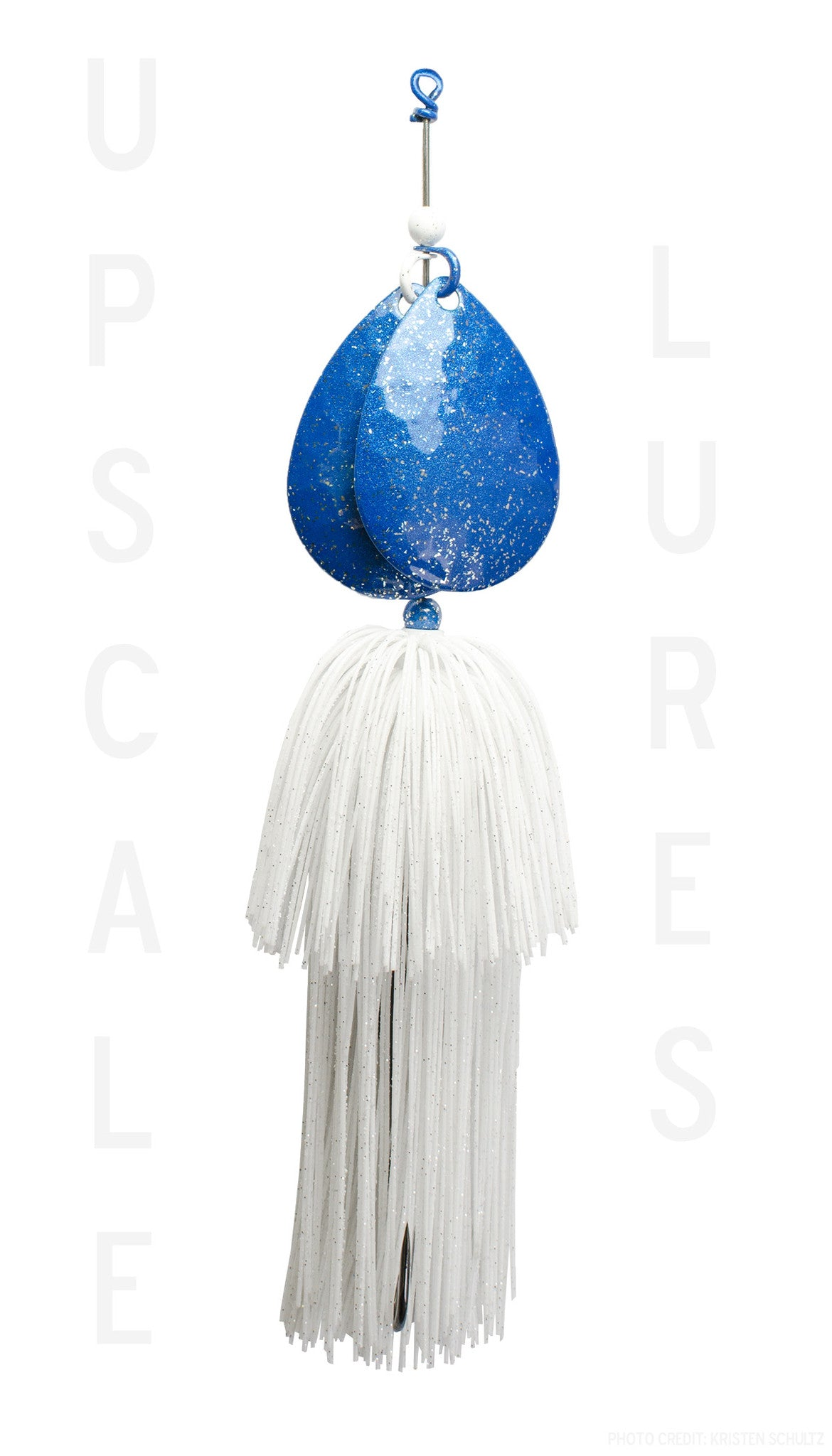 Upscale Bucktail Blue/White 8.25 Inches