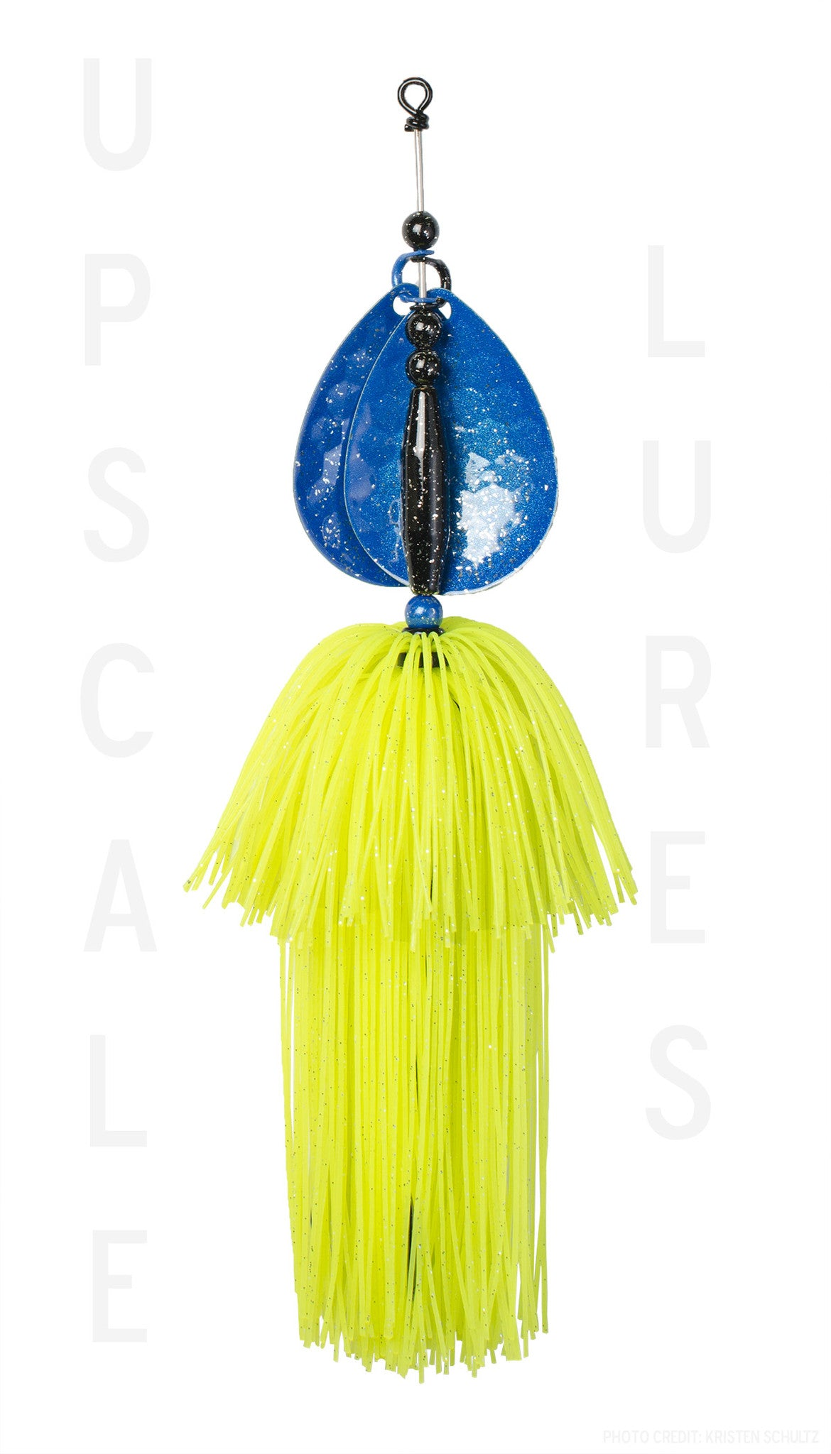 Upscale Bucktail Blue/Chartreuse 8.25 Inches