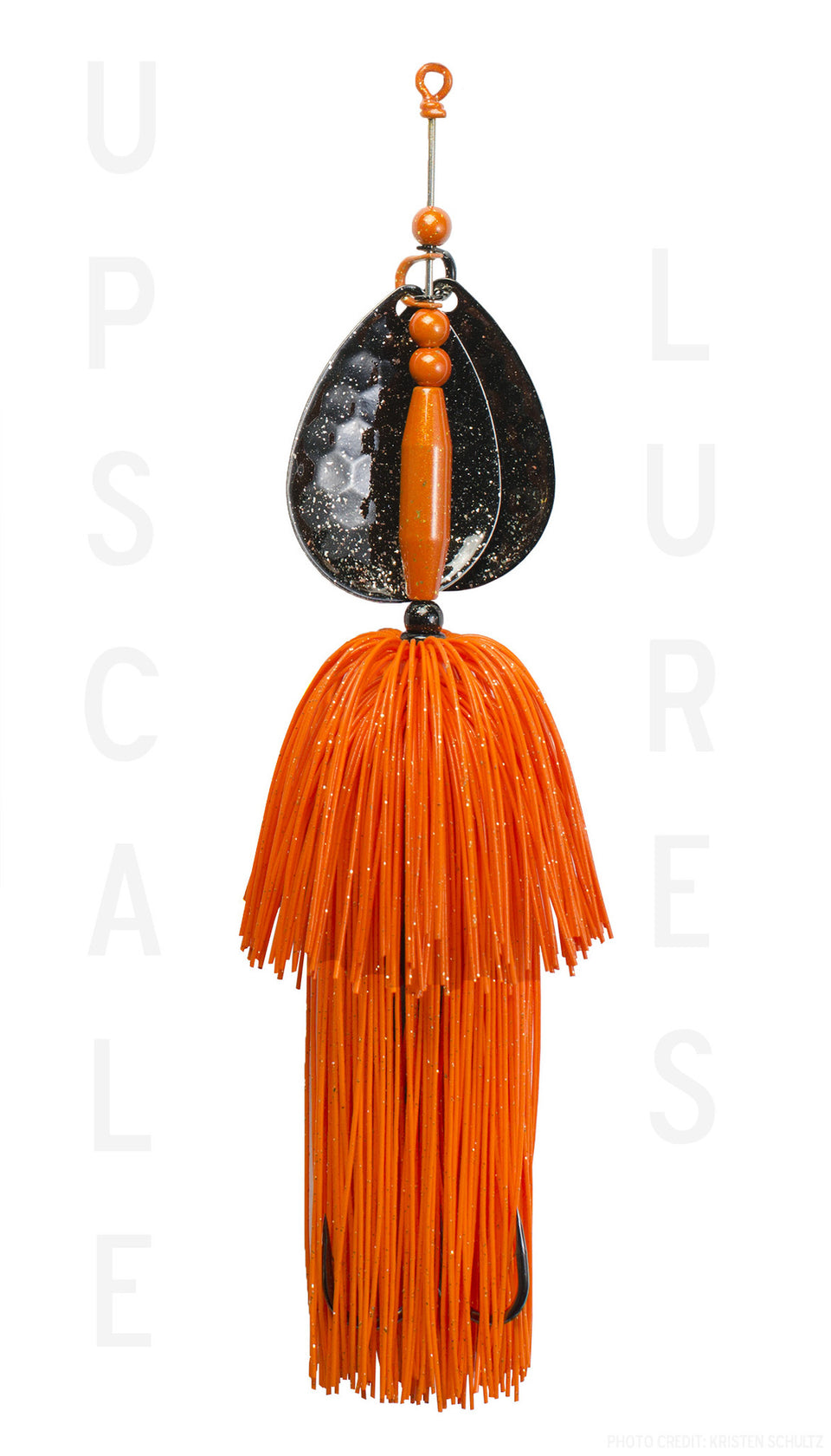 Upscale Bucktail Black/Orange 8.25 Inches
