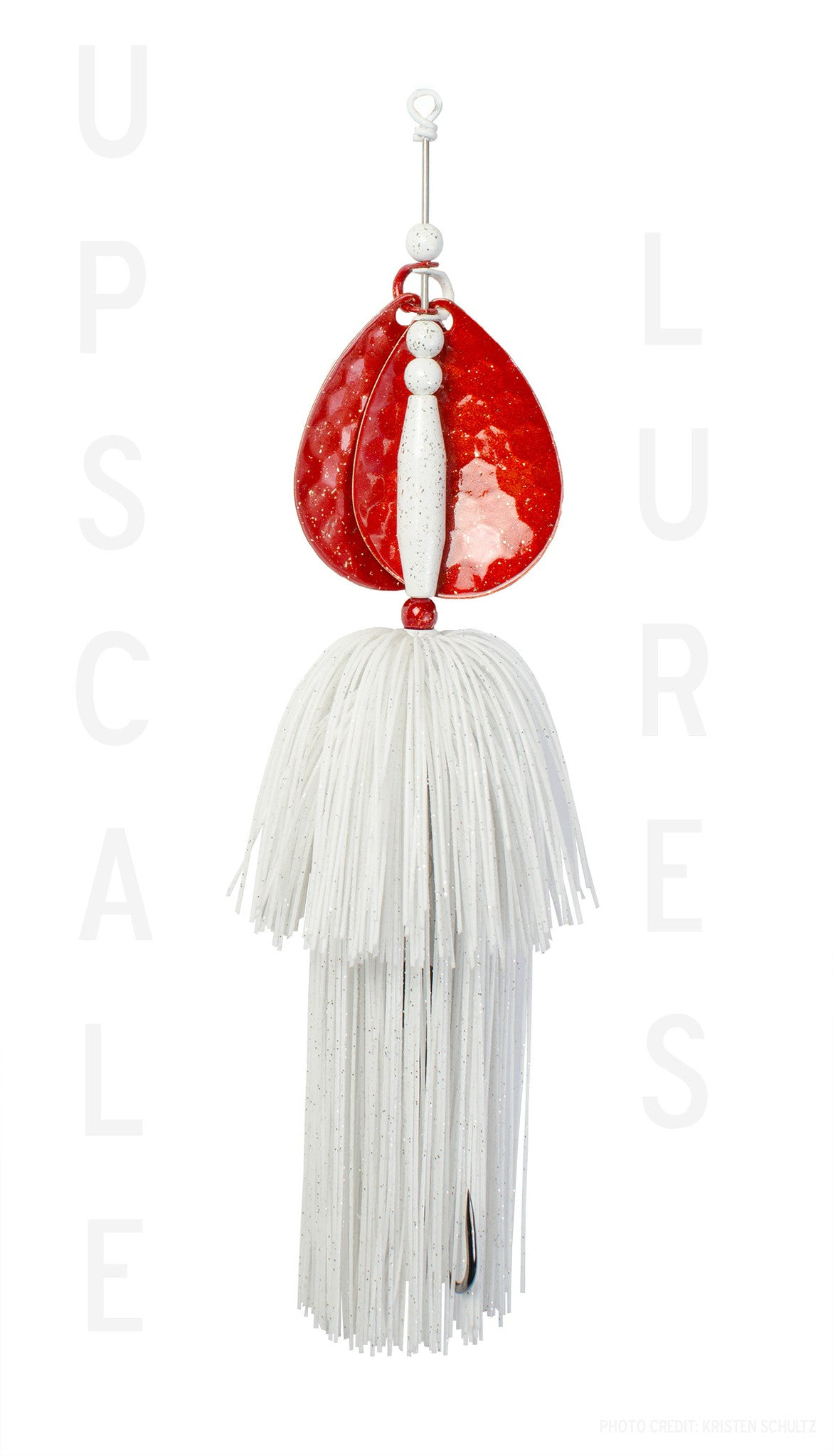 Upscale Bucktail Red/White 8.25 Inches