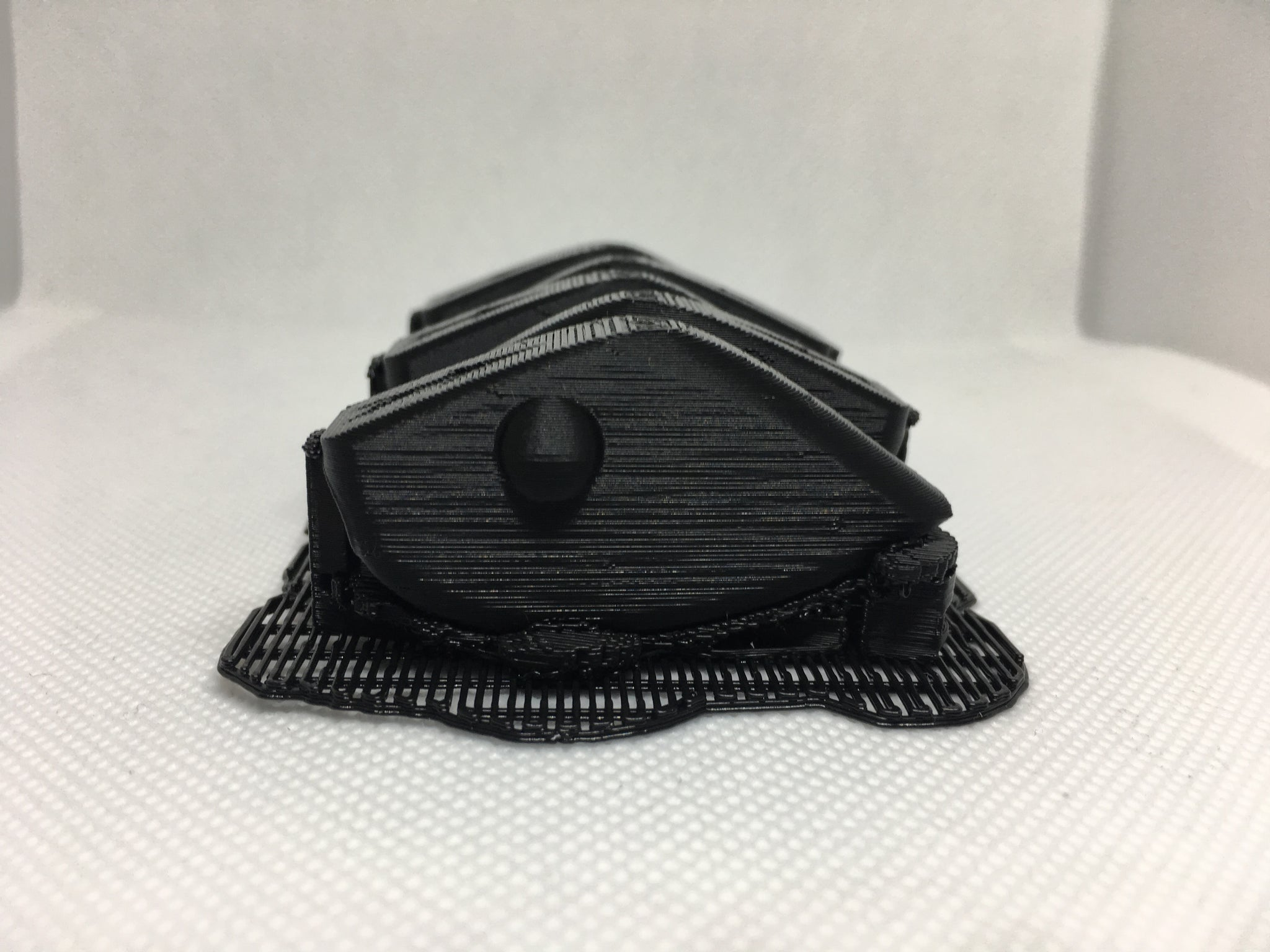 ADJUSTABLE WEIGHT LIPLESS CRANKBAIT BLANKS 3D PRINTED(BLACK)