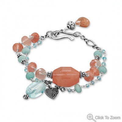 Baila Luna Strawberry Sherbet Bracelet