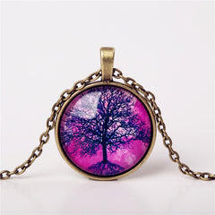 9 Colors Life Tree Pendant Necklace Glass - GemiJewels - 5