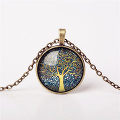 9 Colors Life Tree Pendant Necklace Glass - GemiJewels - 3