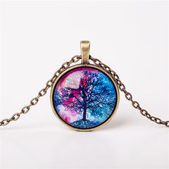 9 Colors Life Tree Pendant Necklace Glass - GemiJewels - 7