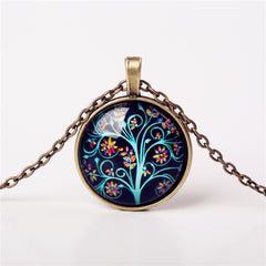 9 Colors Life Tree Pendant Necklace Glass - GemiJewels - 2