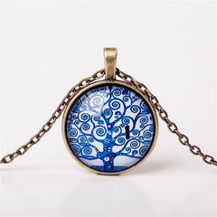 9 Colors Life Tree Pendant Necklace Glass - GemiJewels - 6