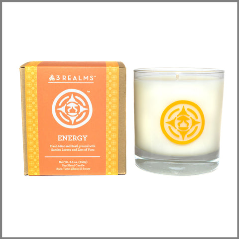 "3Realms ""Energy"" Symbol Soy-Blend Candle (Scented), 8.5 ounces"