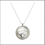 "3Realms ""Energy"" Ancient Symbol - Sterling Silver Pendant Necklace, 16"""