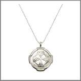 "3Realms ""Faith"" Ancient Symbol - Sterling Silver Pendant Necklace, 16"""