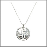 "3Realms ""Motherhood"" Ancient Symbol - Sterling Silver Pendant Necklace, 16"""