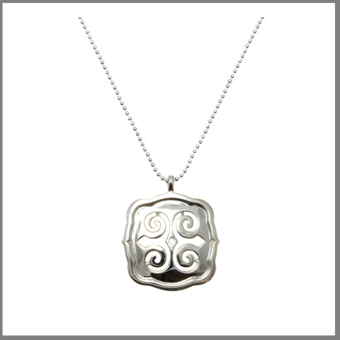 "3Realms ""Strength"" Ancient Symbol - Sterling Silver Pendant Necklace, 16"""