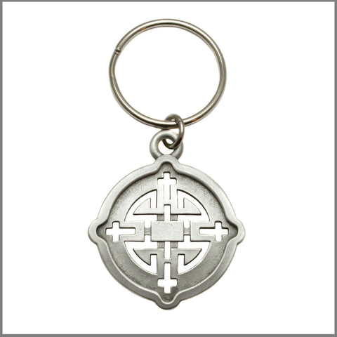 "3Realms ""Harmony"" Ancient Symbol Key Ring - Pewter"