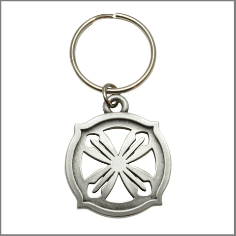 "3Realms ""Hero"" Ancient Symbol Key Ring - Pewter"