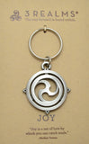 "3Realms ""Joy"" Ancient Symbol Key Ring - Pewter"