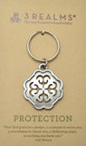 "3Realms ""Protection"" Ancient Symbol Key Ring - Pewter"