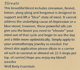 "Women's 8mm Lava and Tiger's Eye Beaded Stretch Bracelet with 5ml ""Elevate"" Essential Oil - Gift Set …"